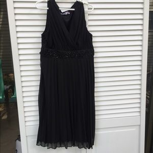 Speechless Girls Black Pleated Chiffon Dress